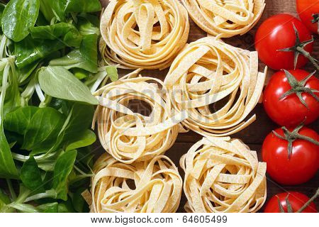 Italian flag with food ingridients