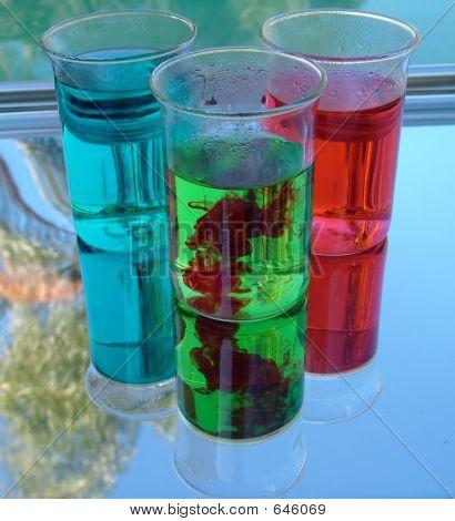 Three Coloured Samples