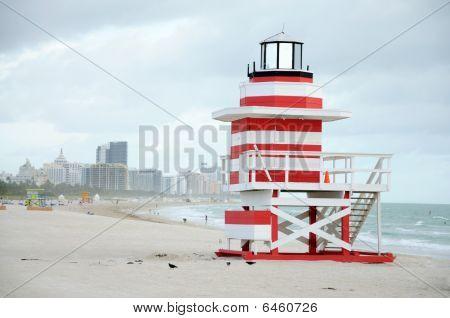 Lifeguard Tower At Miami South Beach
