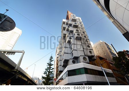 Shimbashi, Japan - Nov 26 : The Nakagin Capsule Tower Is A Mixed-use Residential And Office Tower