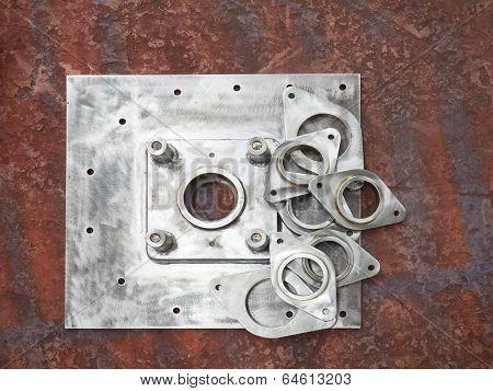 Steel Parts On Factory Floor