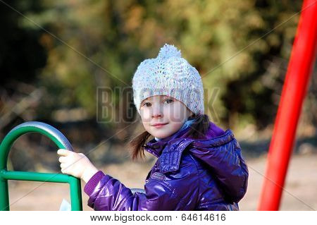 girl at children's playground