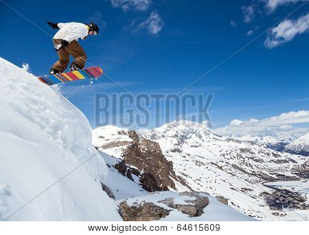 Snowboarder In The Sky