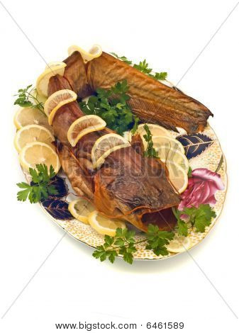 Catfish Or Sheatfish With Lemon And Parsley