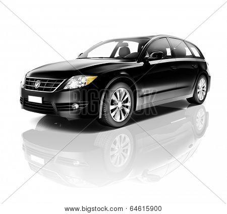Black 3D Car