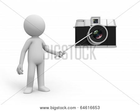 3d person with a camera