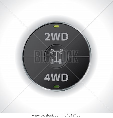 2Wd And 4Wd Button Switches