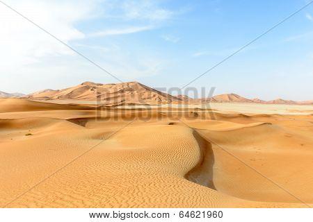 Sand Dunes In Rub Al-khali Desert (oman)