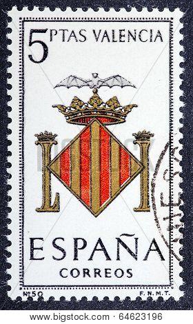 Arms Of Provincial Capitals Shows Valencia