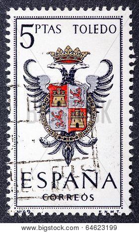 Arms Of Provincial Capitals Shows Toledo