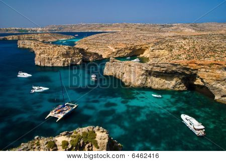 Comino Full Of Yachts