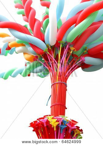 Colorful elongated balloon