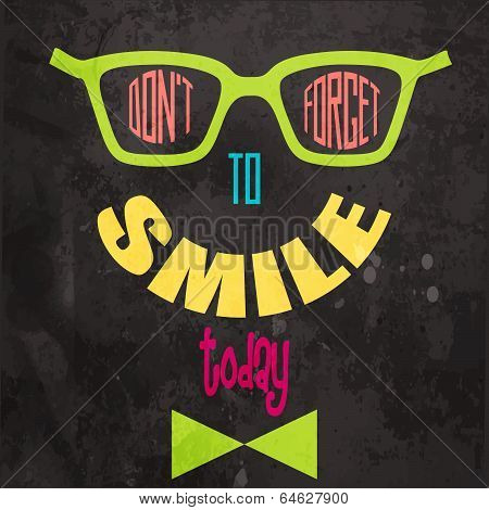 Don't Forget To Smile! Motivational Background