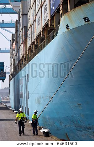 Container ship Harbor