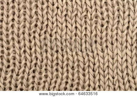 Close Up Brown Knitted Pullover Background