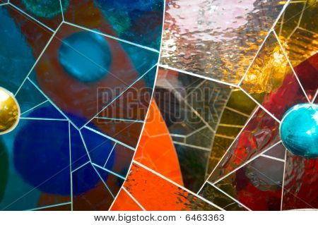 Glass and tile mosaic
