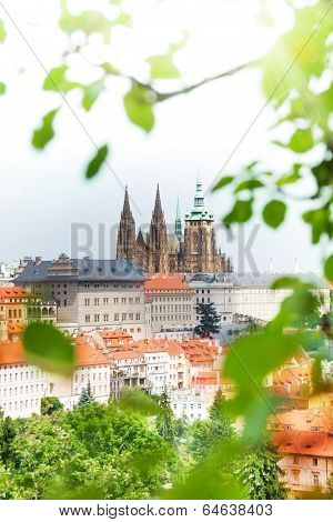 View from Petrin Tower on St. Vitus Cathedral