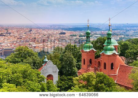 Church of Saint Lawrence from Petrin Tower