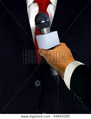 Press Interview With Microphone