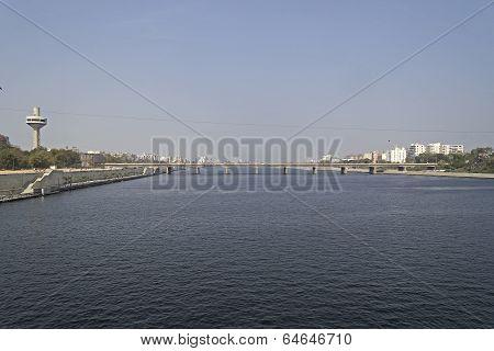 River Sabarmati In Ahmedabad