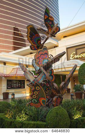Sculptural Composition Depicting Butterflies Near Encore Hotel In Las Vegas