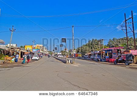 Main Street In Somnath