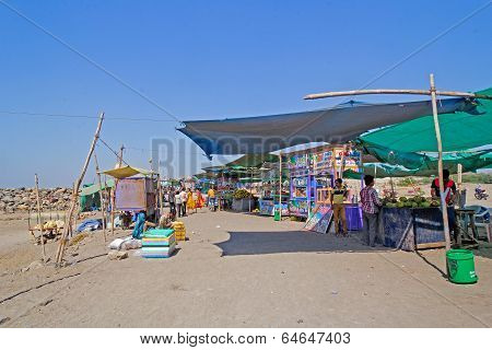 Market At Somnath Beach, Gujarat