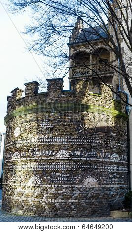 Remains of the Roman city wall in Cologne
