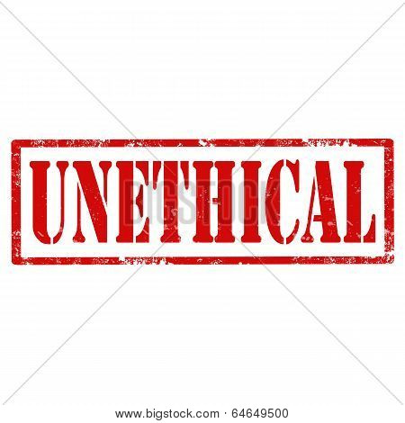 Unethical-stamp