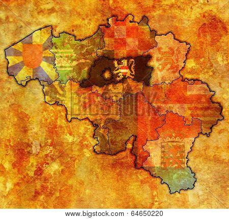 Flemish Brabant On Map Of Belgium