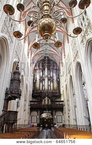 Interior Of St. John's Cathedral At 's-hertogenbosch, Netherlands