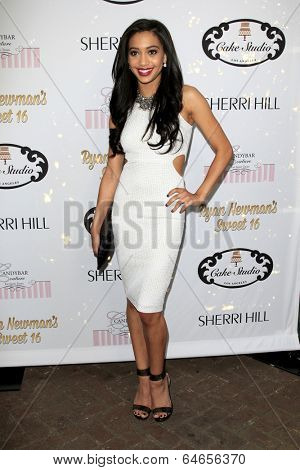 LOS ANGELES - APR 27:  Samantha Logan at the Ryan Newman's Glitz and Glam Sweet 16 birthday party at Emerson Theater on April 27, 2014 in Los Angeles, CA