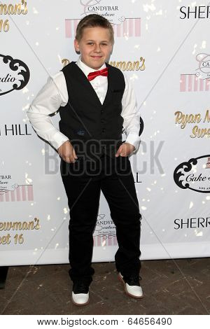 LOS ANGELES - APR 27:  Jackson Brundage at the Ryan Newman's Glitz and Glam Sweet 16 birthday party at Emerson Theater on April 27, 2014 in Los Angeles, CA