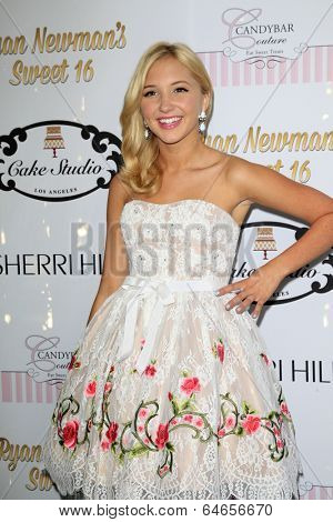 LOS ANGELES - APR 27:  Audrey Whitby at the Ryan Newman's Glitz and Glam Sweet 16 birthday party at Emerson Theater on April 27, 2014 in Los Angeles, CA