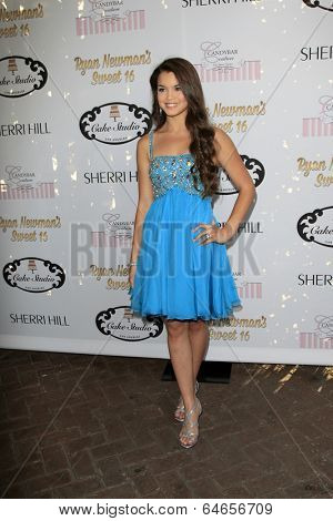 LOS ANGELES - APR 27:  Paris Berelc at the Ryan Newman's Glitz and Glam Sweet 16 birthday party at Emerson Theater on April 27, 2014 in Los Angeles, CA