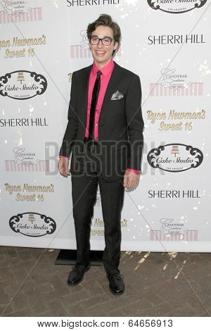 LOS ANGELES - APR 27:  Joey Brogg at the Ryan Newman's Glitz and Glam Sweet 16 birthday party at Emerson Theater on April 27, 2014 in Los Angeles, CA