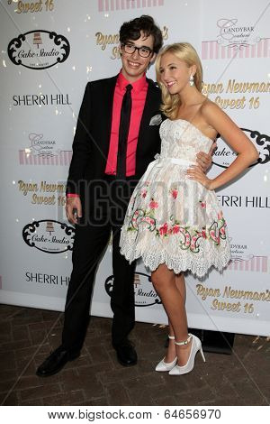 LOS ANGELES - APR 27:  Joey Brogg, Audrey Whitby at the Ryan Newman's Glitz and Glam Sweet 16 birthday party at Emerson Theater on April 27, 2014 in Los Angeles, CA