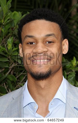 LOS ANGELES - MAY 7:  K.J. McDaniels at the Associates for Breast and Prostate Cancer Studies Mothers Day Luncheon at Four Seasons Hotel on May 7, 2014 in Beverly Hills, CA