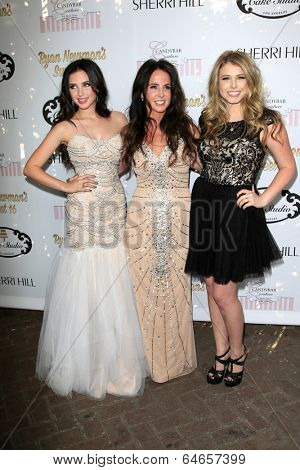 LOS ANGELES - APR 27:  Ryan Newman, Jody Newman, Jessica Newman at the Ryan Newman's Glitz and Glam Sweet 16 birthday party at Emerson Theater on April 27, 2014 in Los Angeles, CA