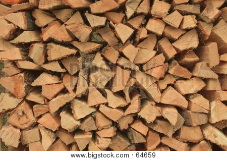Close-up Of Firewood.