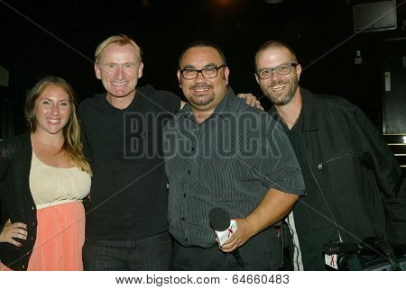 HOLLYWOOD, MAY 6: Dean Haglund (second from the left)  at the post play interview with