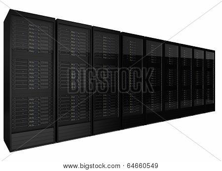 Row Of Many Server Racks