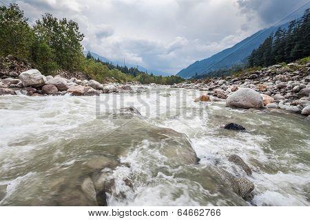 Beas River In Manali