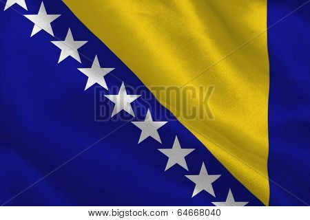 Digitally generated bosnian flag rippling