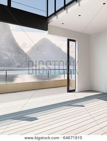 Picture of modern airy apartment interior / atrium