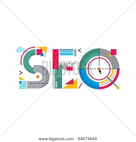 Abstract Illustration concept - SEO logo word
