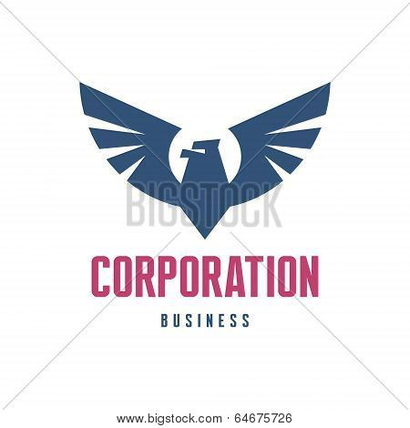 Corporation Business - Eagle Logo Sign