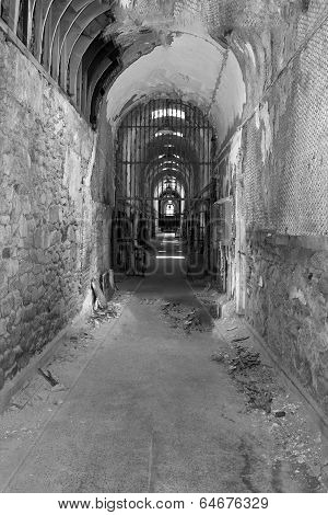 Old Jail in Black and White