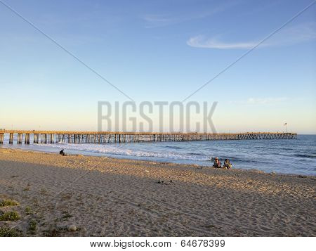 Anglers At The Beach In Ventura, CA