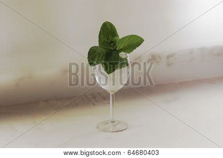 Mint in glass